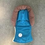 Maxi cosi kussen, hoofdbescherming & stoelverkleiner blauw/bruin