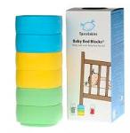 Baby bed blocks Spacebabies (6x) geel/groen/blauw