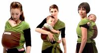 Je porte mon bébé draagdoek groen/bruin