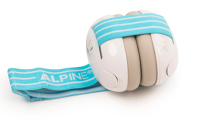 Alpine gehoorbescherming baby beige & wit