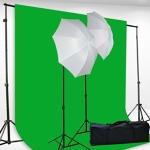 Green Screen and Lighting Kit