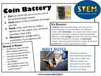 STEM Activity - Coin Battery