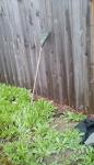 Small headed rake