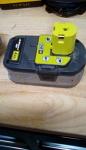 Ryobi lithium cordless battery