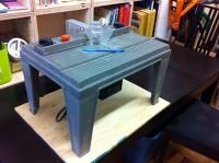 Table à toupie portative