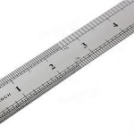 Metal Ruler (only inches) (2)