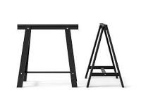 Ikea Black Trestle Leg (2)