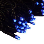 String Fairy lights (black cable blue lights)