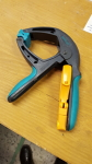Blue spring hand clamp