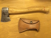 Wood handled hatchet