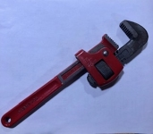 10 inch adjustable wrench (red)