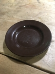brown camping plate