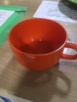 yellow camping cup