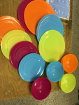 Plastic dish set for 4