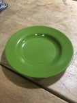 green camping plate