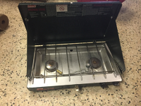 Two burner propane stove