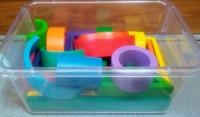 Hardwood Multi-Colored Designer Blocks Set
