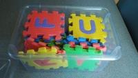 Mini Foam Alphabet squares