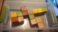 Magnetic Wooden Cubes