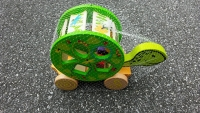 Wooden Shape Sorter Turtle Pull Toy