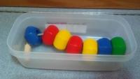 Jumbo wooden lacing beads