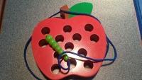 Caterpillar Eats Apple Threading Toy