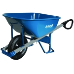 Wheelbarrow - 6 cubic ft., with control handles