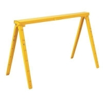 Adjustable Metal Saw Horses - Pair (Yellow)