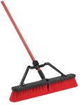 Red Push Broom