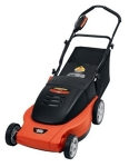 Orange Corded Electric Lawn Mower