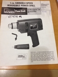 MANUAL for Power drill 1/2""