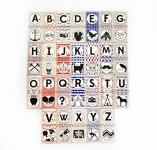 Hipster ABC Matching Tile Set