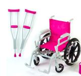 Wheelchair and Crutches Set