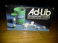 Ad-Lib Crossword Cubes