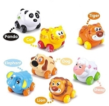 Cartoon Animals Friction Push and Go