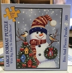 300pc Large Format Puzzle Merry Snowman