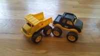 2 Yellow Construction Vehicles Set