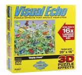 "500pc 3D Puzzle - Frogs ""Hanging Around"""