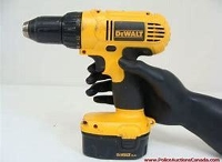 DeWalt 14.4v cordless drill, light, 2 batteries, and charger