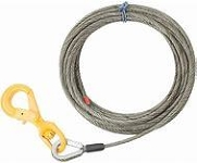 "Tow Cable- 12' 1/4"" Dia Braided Wire"