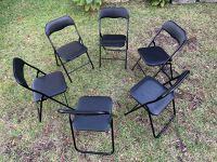 Folding chair set of 6