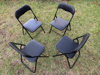 Folding chair set of 4