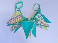 Bunting 7m - Aqua / Coloured Stripes