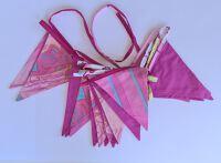 Bunting 7m - Dark Pink & Patterns