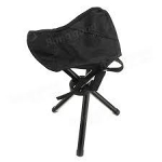 black camping chair tripod