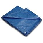 blue camping tarp