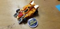 Yellow Transformer Dino Racing Car