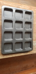 Cake or muffin tray square (12)