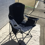 Navy Wanderer - Large Camping Chairs (x2)