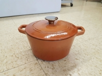 3-Quart Round Covered Casserole Dish (Dutch Oven) Orange